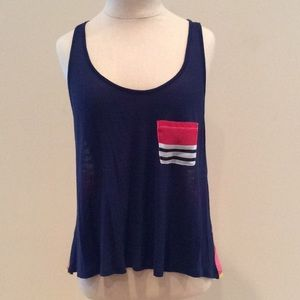 Multi colored swing style tank top